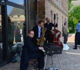 Die musikalische Begleitung kam vom Jazz-Trio von Alexander Beierbach.