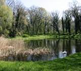 Teil des Parks ist ein kleiner Teich