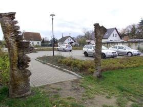 Parkplatz.Seitenansicht